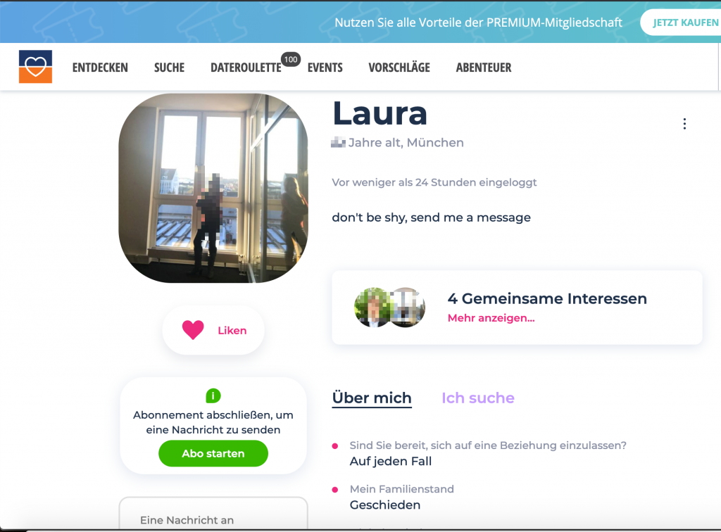 Lovescout24 Profil
