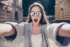 Selfie als Profilbild